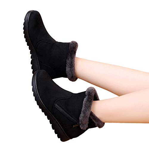 Botas Invierno De Tobillo Bbestseller Negro Las Mujer Nieve Zapatos 1 Cálido Terciopelo Sport Planas Mujeres Invierno prw5qpX