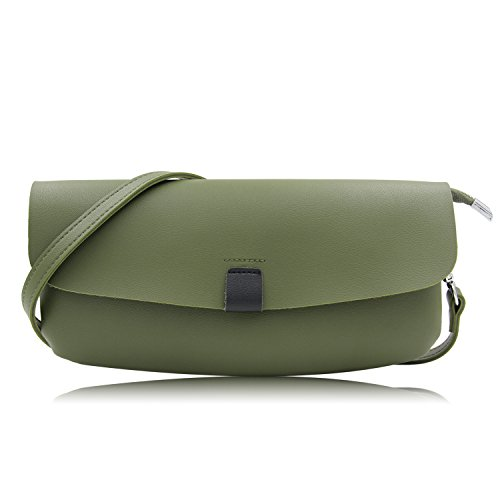 Green Handbag Casual (Oversized Faux Leather Clutches Women Casual Envelope Evening Clutch Bag Purses And Handbags With Wristlet And Shoulder Strap (Dark Green))