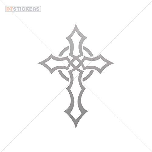 - Decoration Vinyl Stickers Celtic Cross Decoration vinyl (5 X 3,66 In. ) Gray 50%