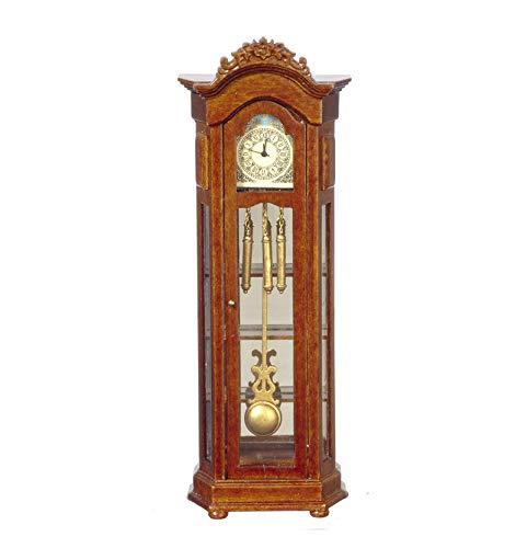Platinum Clock - Miniature 1:12 Scale Battery Operated Grandfathers Clock by Platinum Miniatures
