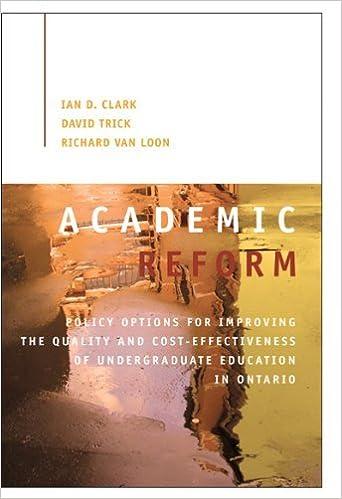 Book Academic Reform (Queen's Policy Studies) by Ian D. Clark (2011-10-21)