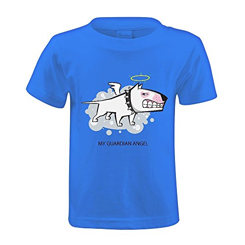 snowl-white-bull-terrier-guardian-angel-boys-crew-neck-personalized-tees-blue