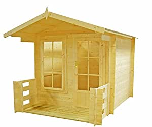 "Highwood maul0909l19_ 1AA 9x 9ft ""Maulden"" Log Cabin–Miel marrón"
