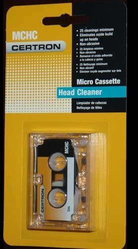 Certron Micro Cassette Head Cleaner by Certron