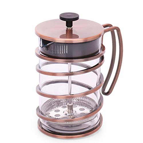 Coffee Pot Tea Pot Coffee Kettle Espresso Coffee Maker Coffee Machine French Coffee Press Glass Household Stainless Steel Filter Pressure GAOFENG (Color : Ancient Copper, Size : 800ml) by GAOFENG-coffee pot (Image #1)