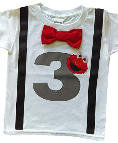 3rd Birthday Shirt Boys Elmo Tee (3T)