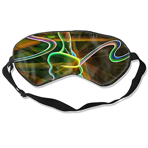 Oh-HiH 100% Silk Eye Mask Colorful HD Wallpapers Sleeping Blindfold Blocks Light Eye Cover