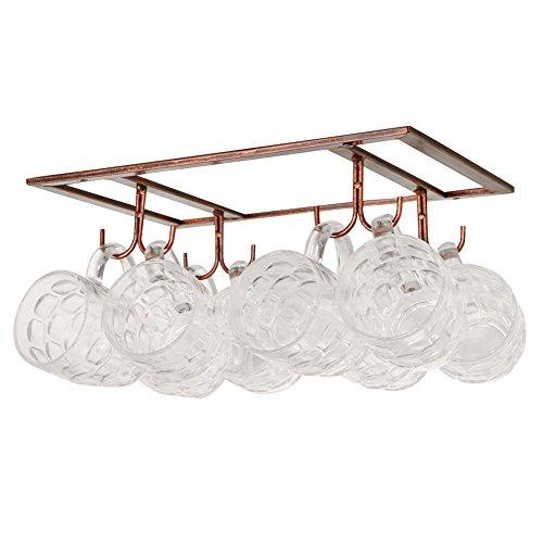 Exttlliy Iron Creative Mug Holder Hanging Wine Glass Drying