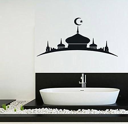 Hommay Wallpaper Mural Art Decals Muslim Islamic mosque silhouette