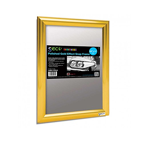 Open Snap Frame Poster/Picture Frame 8.5 x 11 Inches, Polished Gold Effect Frame (SN8511POLG) ()