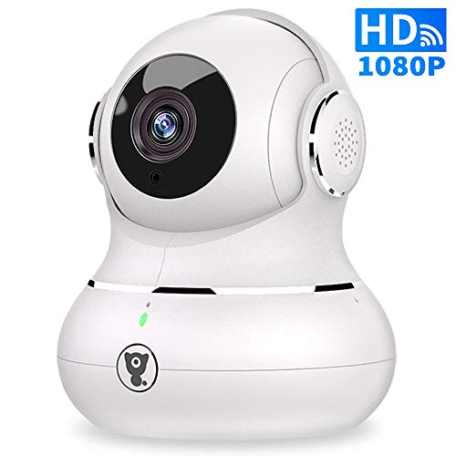 Wireless Indoor Home Security Camera - 1080P Littlelf IP Pet Camera WiFi Surveillance Baby Monitor with 2-Way Audio, 3D, Cloud Service, Remote Detect for iOS/Android, Night Vision (Best Wifi Baby Monitor Android)
