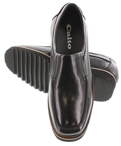Calto G63190-3 Pouces De Hauteur - Hauteur Augmentant Les Chaussures Dascenseur - Noir Chaussures De Sport