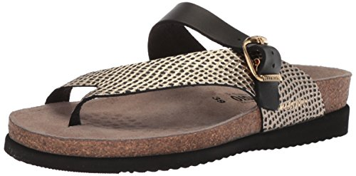 Mephisto Women's Helen Mix Slide Sandal, Black, 7 M (Mix Flip Flops Thong Sandals)