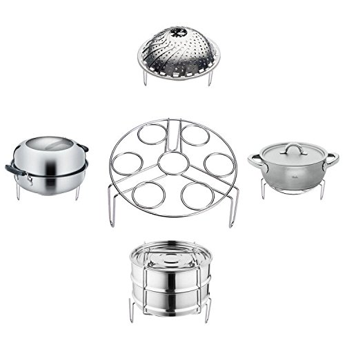 Steamer Rack Egg Holder Dispenser Container Eggs Display Tray and Storage Stainless Steel Cookware