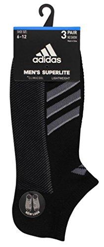 designer fashion 52d96 bbc33 adidas Mens Climacool Superlite No Show Socks (3-Pack), BlackOnix