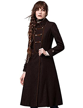 Amazon.com: Artka Women's Winter Military Double-breasted Long ...