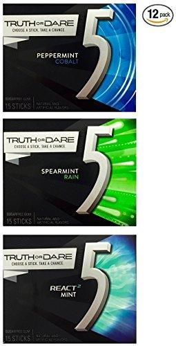ety Pack (12 Packs) - 4 Packs Each of Peppermint Cobalt, Spearmint Rain, and React Mint ()