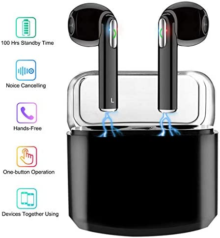 Wireless Earbuds with Charging Case Bluetooth Headphones Wireless Sports Earbuds with Mic, Waterproof Earbuds Wireless Earphone Bluetooth Earbuds Stereo Compatible iOS Android for Smartphone