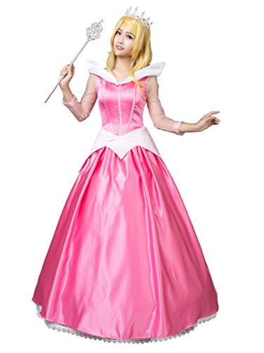 Sleeping Beauty Halloween Costume Ideas (CosFantasy Princess Aurora Cosplay Costume Ball Gown Dress mp002020 (Women)