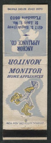 Anchor Appliance Co Monitor 4517 S Kingshighway St Louis MO matchcover