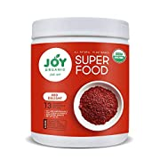 Joy Organic Red Renewal Superfood - Vital Reds Whole Food Supplement with Beet, Cranberry, Strawberry - Boosts Metabolism, Combats Effects of Aging and Enhances Memory - Vegan - 30 Servings
