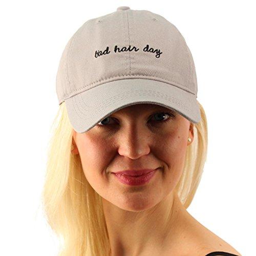 Game Day Visor (Everyday Bad Hair Day Adjustable Cotton Baseball Sun Visor Cap Dad Hat Gray)