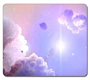 Brain114 Customized Mouse Pad Oblong Pink Flower 3 Personalized Mousepad Non-Slip Gaming Mouse Pads