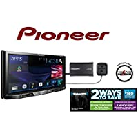 Pioneer In Dash Double Din AVH-X490BS 7 DVD Receiver with Built in Bluetooth and SiriusXM SXV300V1 Satellite Radio Tuner and receiver with a FREE SOTS Air Freshener Included