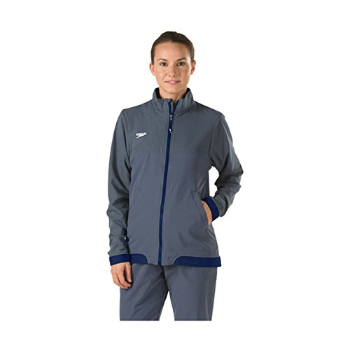 Speedo Womens Female Tech Warm Up Jacket, Navy, Large