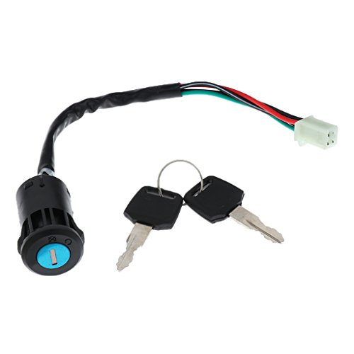 perfk Electric Ignition Lock Cylinder Barrel Switch Keys Replacement Parts: