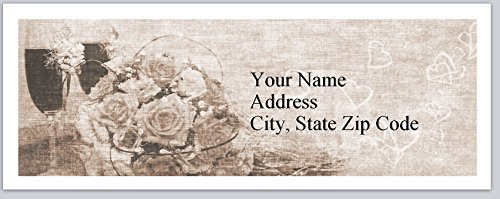 120 Personalized Return Address Labels Bouquet of Roses (bx 154)