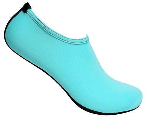 Sko 18 Womens Barfot Vann Hud Sko Aqua Sokker Til Strand Svømme Surfe Yoga Trening 1100l Lt.blue