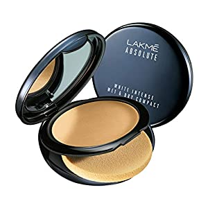 Lakmé Absolute White Intense Wet & Dry Compact, Ivory Fair 01, Long Lasting With Spf, 9 g