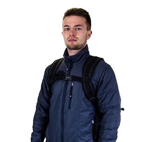 Charles Bentley - Sport-Rucksack mit Rolltop-Verschluss - 100 % wasserdicht - als Drybag geeignet - ideal für Wintersport, Angeln, Camping - Schwarz - 40 l