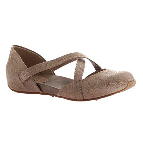OTBT Axxiom Womens Sit Tight Flat Shoe Taupe kXcOYb0w