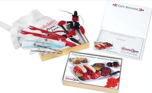 Lobster Gram Gourmet Gift Card Set - - Store Gift Grocery Cards E