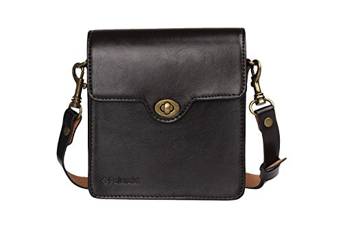 Polaroid Custom Designed Vintage-Inspired Genuine Leather Case for Polaroid Socialmatic - Removable Shoulder Strap Included - Brown