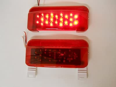 LED RV Camper Trailer Stop Turn Brake Tail Lights / License Light / White Base