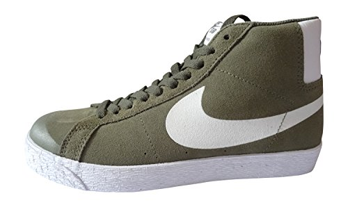 nike SB blazer premium SE mens hi top trainers 631042 sneakers shoes (uk 7 us 8 eu 41, medium olive gum light brown laser 212)