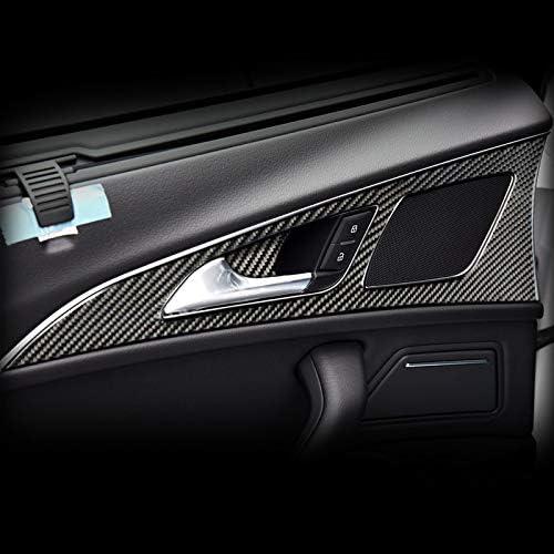 Fsxtlll Für Audi A6 C7 Innenverkleidung Carbon Türgriffverkleidung Dekor Abdeckleiste Zubehör 2011 2018 Car Styling Aufkleber Sport Freizeit