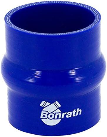 Bonrath BH SCH60 Argot Silicone Droite Longueur 76 mm Bleu Dia 60 mm