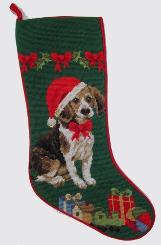 Beagle Needlepoint Christmas Stocking
