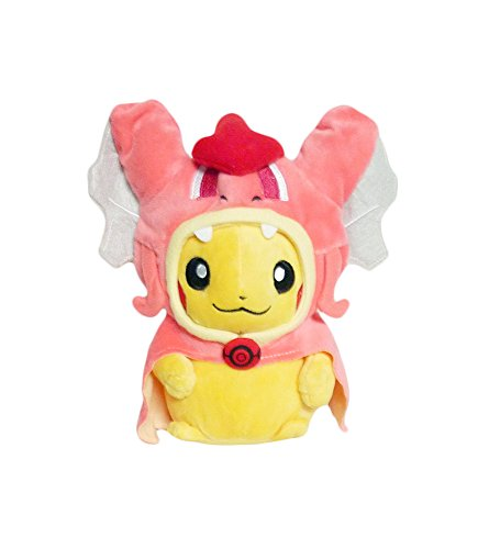 Pikachu Wearing A Costume (Pokemon: 7-inch Mascot Pikachu Plush Doll - Shiny Red Gyarados)