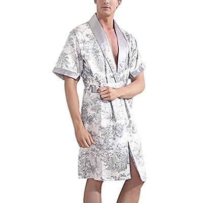Taiycyxgan Men's Classic Kimono Robe Pajama Nightgown Bathrobe Sleepwear Gift