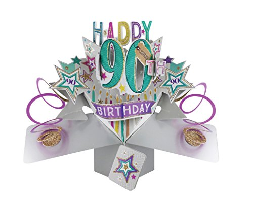 90th Birthday Pop-up Greeting Card