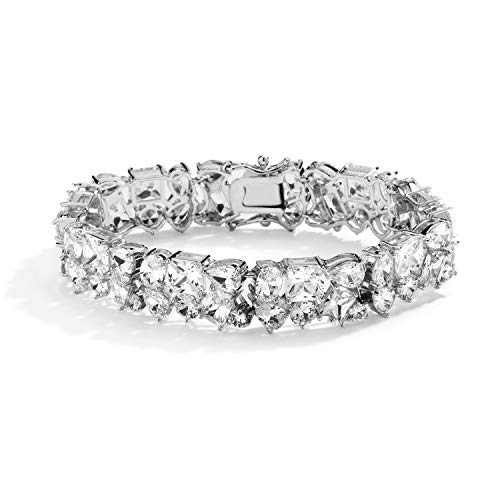 Mariell Luxurious Wedding Bridal Bracelet with Multi-Shaped Cubic Zirconia - Brides Couture CZ Bracelet