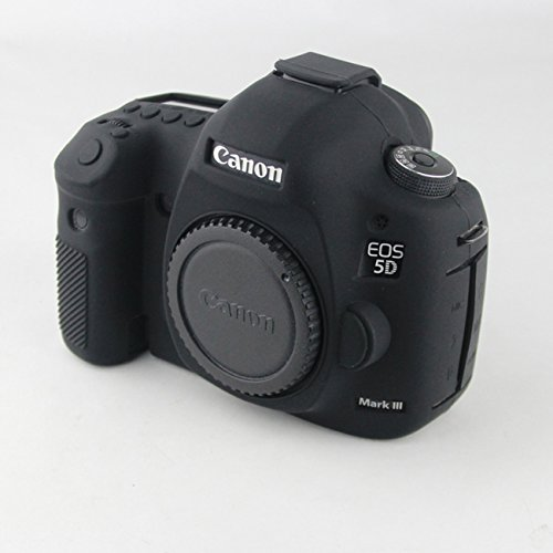 FNSHIP Professional Soft Silicone Rubber Camera Protective Cover Case Skin For Canon EOS 5D Mark III, 5DS, 5DSR Digital SLR Camera (Black)