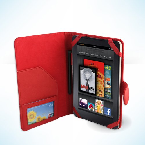 AZPEN A720 7'' Tablet RED DuroMax Executive Folio Case / Cover by Cush Cases