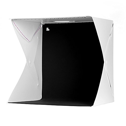 EleLight Portable Photo Studio, Photo Lighting Box Studio Shooting Tents Mini Photo Lighting Box with 4 Colors Backdrops(White Black Red Green) for Photography(16x16x16inches) by EleLight