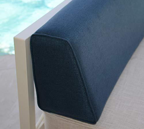 micama Wedge Bolster Cover (Lepap Navy Blue).